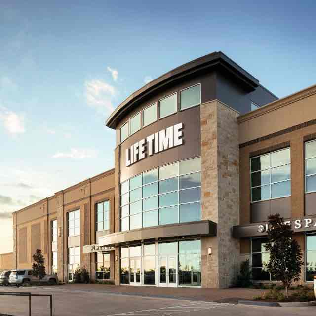 Building exterior at Life Time Burlington
