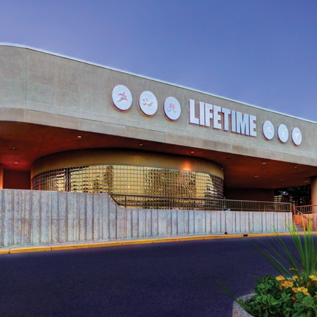 Building exterior at Life Time Fridley