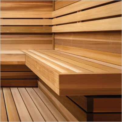 Cedarwood sauna at Life Time Noho