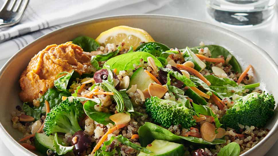 Delicious Marakesh bowl featuring plenty of fresh vegetables