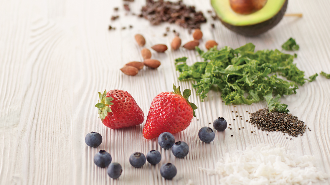 organic smoothie and shake ingredients