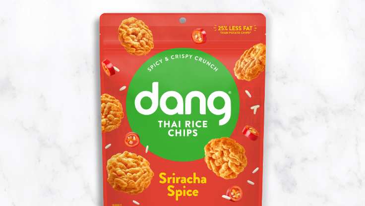 Dang sticky rice chips sriracha