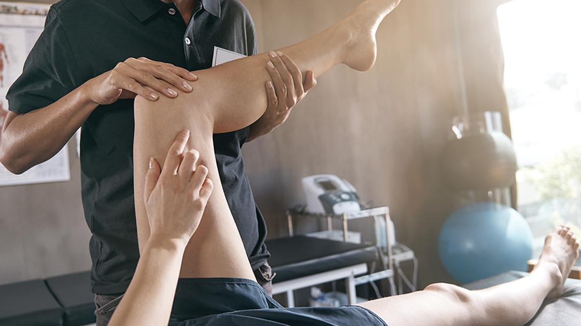 A Physical Therapist at work