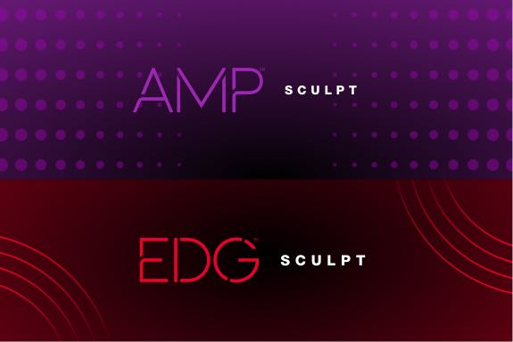 Amp and EDG sculpt logos