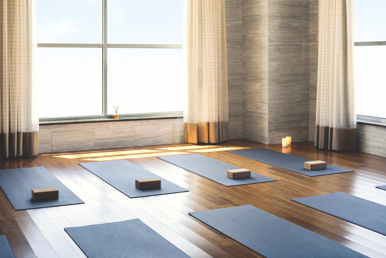 Inside of Yoga studio