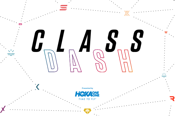 Class Dash logo with presented by Hoka logo lock up