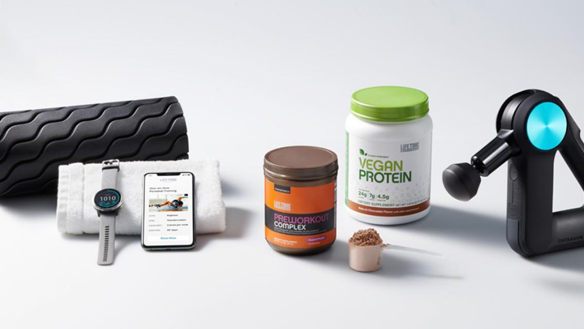 Items you can purchase through the Life Time health store