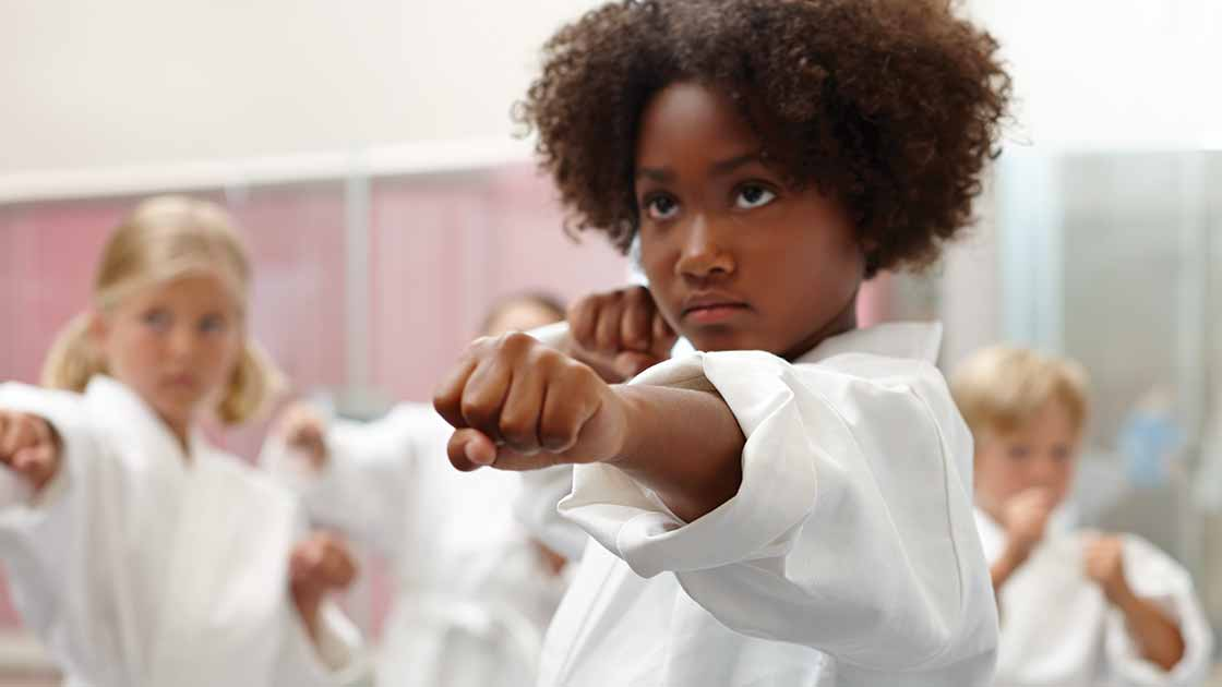 image of kids practicing martial arts
