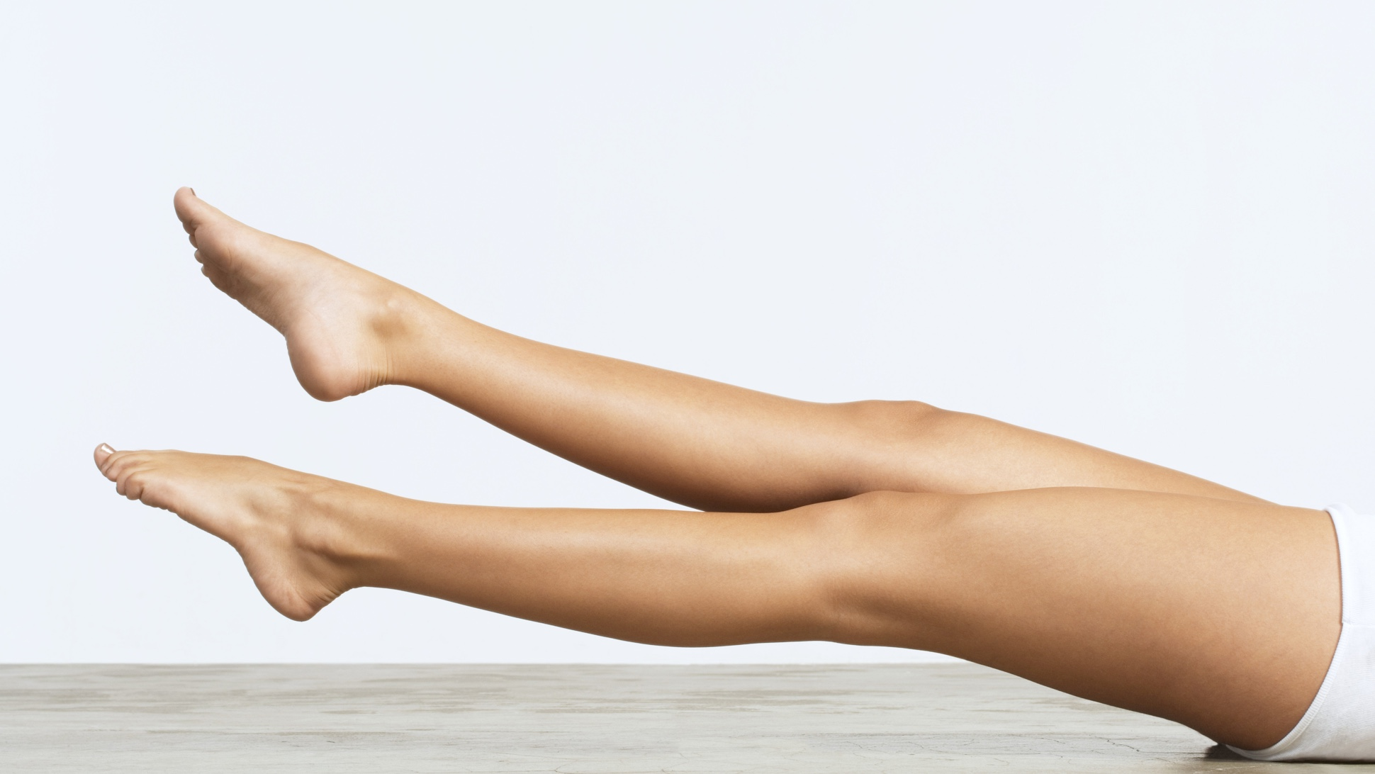 Image of woman's legs after laser treatment