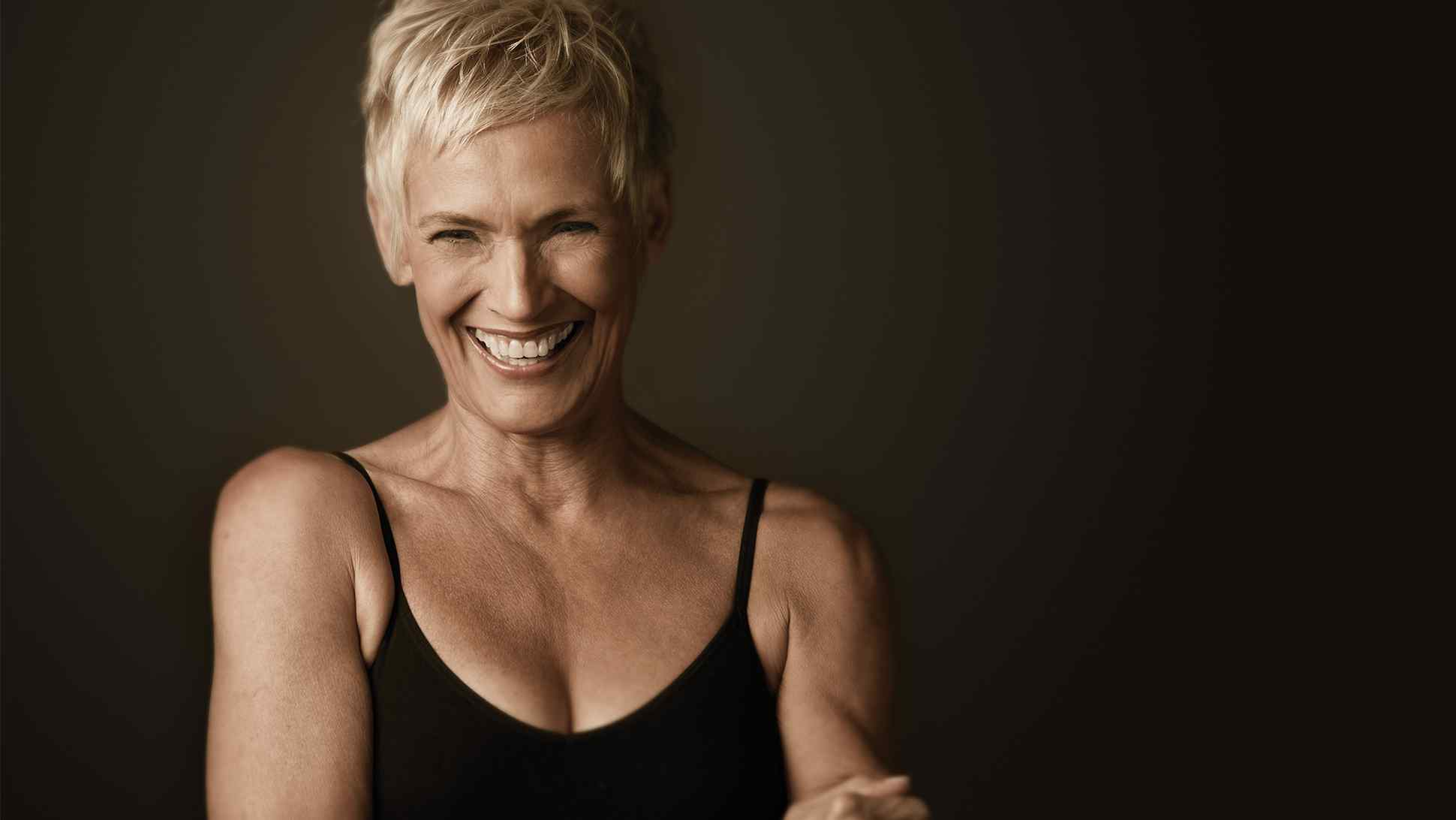 Image of mature woman laughing