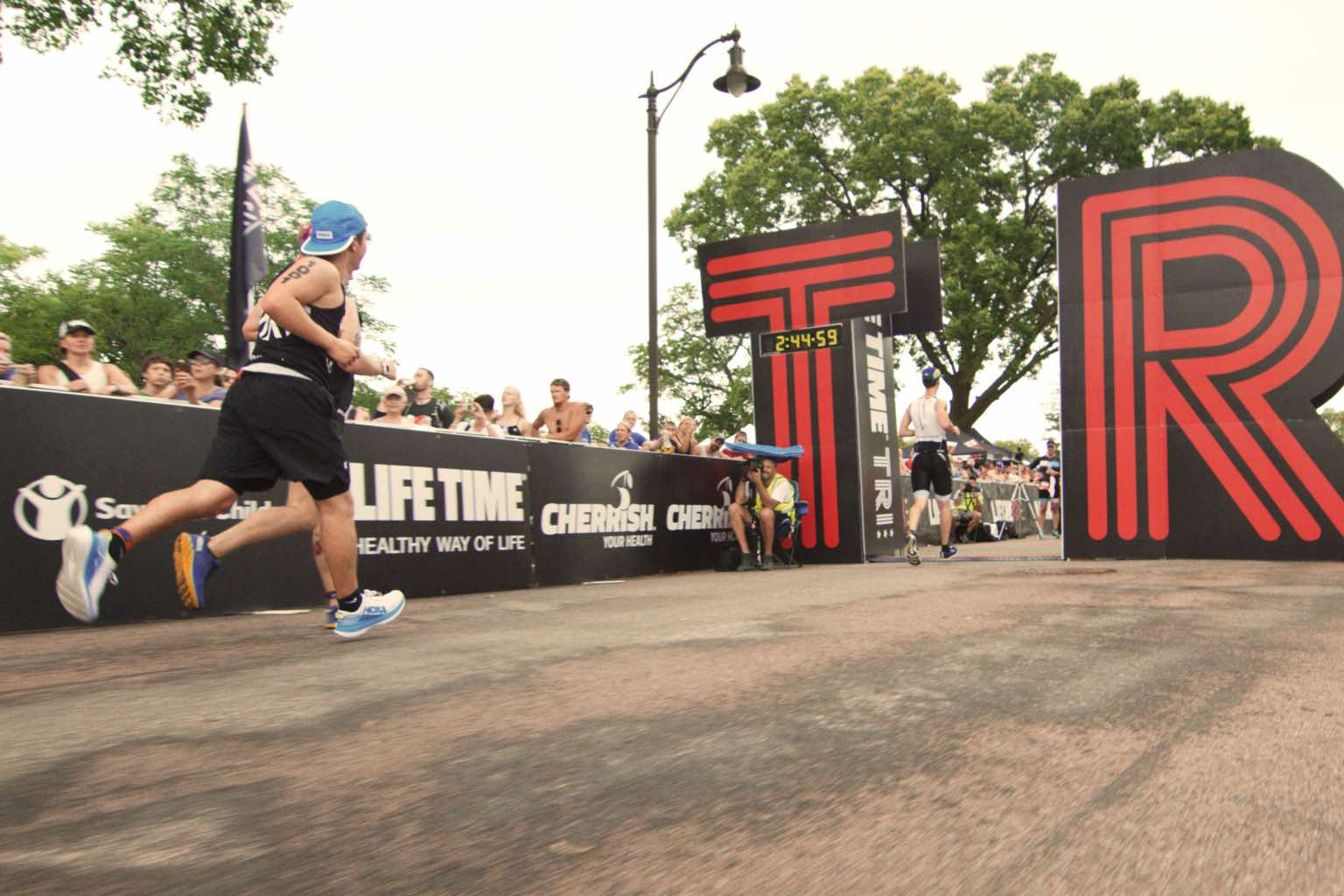 Louie McGee finishing the Life Time Tri