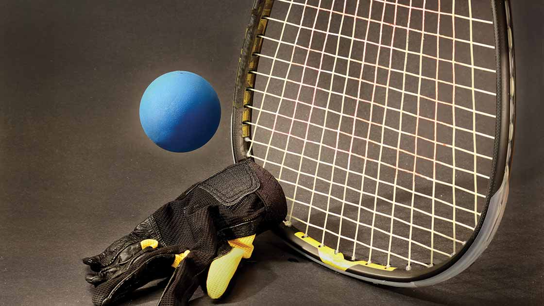 Image of racquetball gear