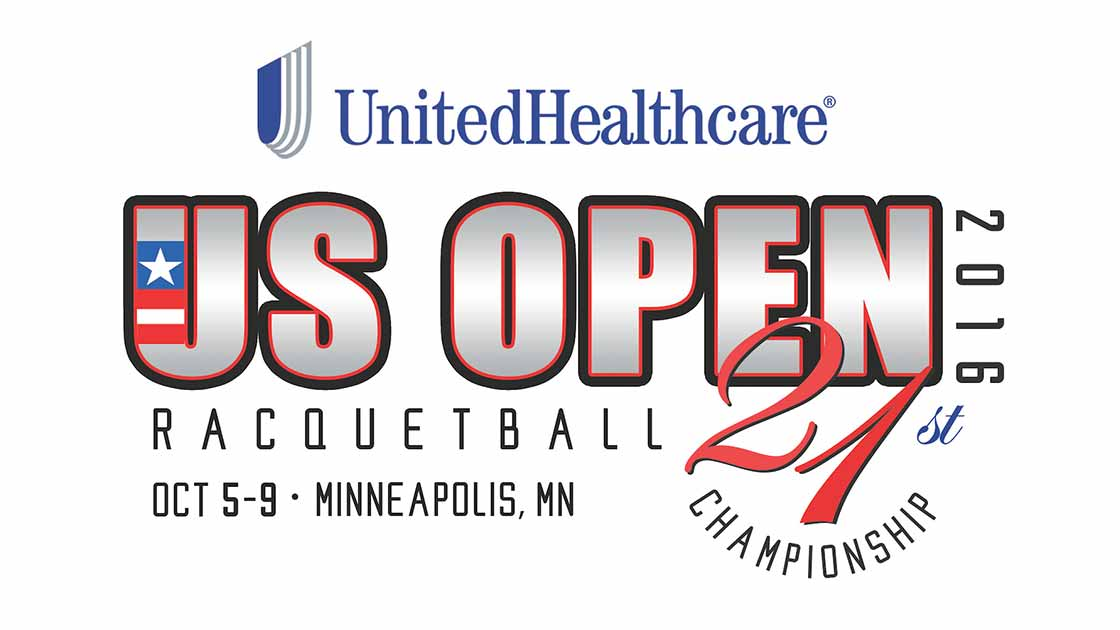 Logo for the United Health Care Raquetball US Open 2016